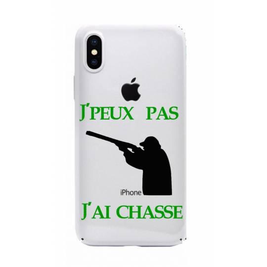 Coque transparente Iphone XS Max jpeux pas jai chasse