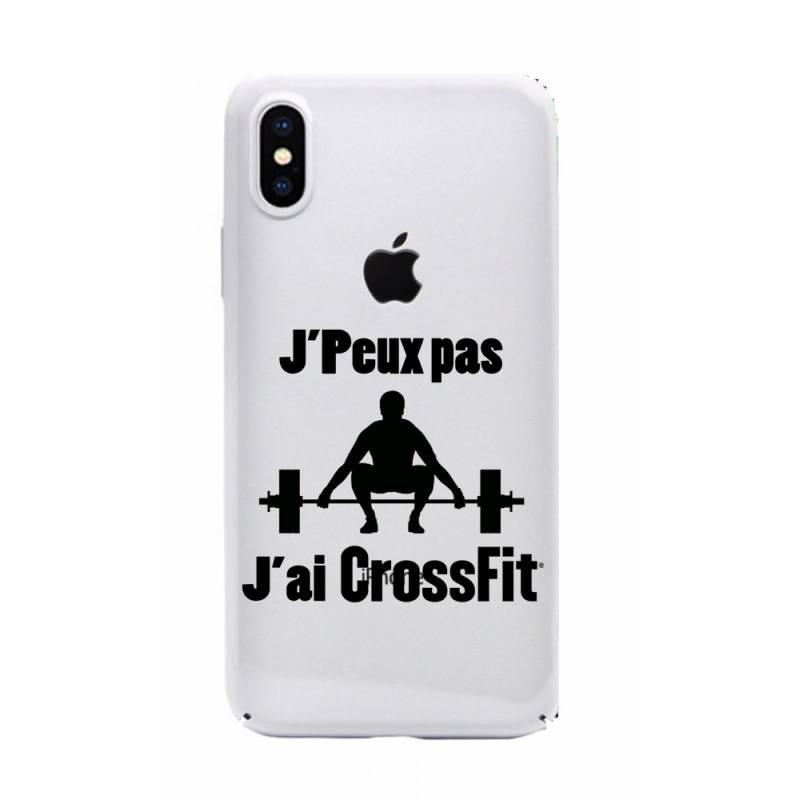 Coque transparente Iphone XS Max jpeux pas jai crossfit