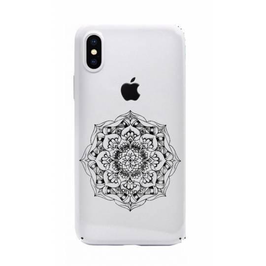 Coque transparente Iphone XS Max mandala noir