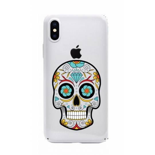 Coque transparente Iphone XS Max tete mort