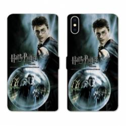 RV Housse cuir portefeuille Iphone XS Max WB License harry potter C