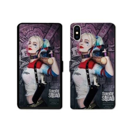 RV Housse cuir portefeuille Iphone XS Max Harley Quinn