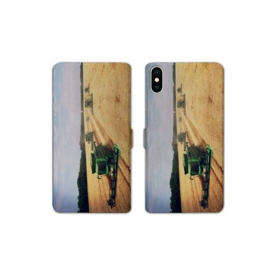 RV Housse cuir portefeuille pour iphone XS Max Agriculture