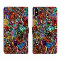 RV Housse cuir portefeuille Iphone XS Max Psychedelic