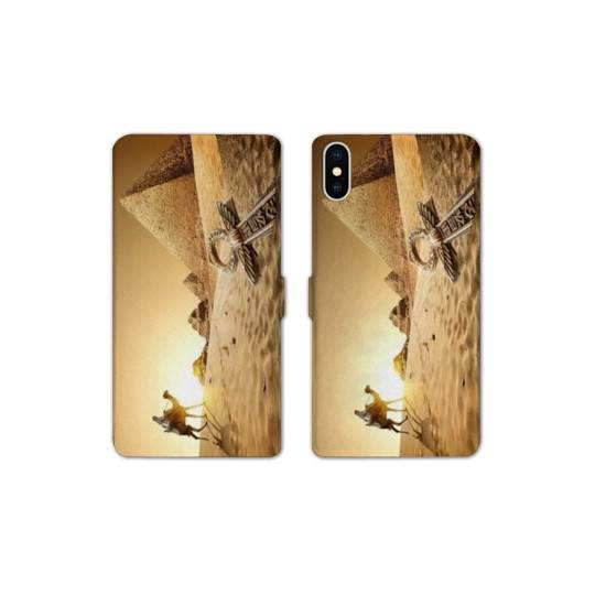 RV Housse cuir portefeuille pour iphone XS Max Egypte