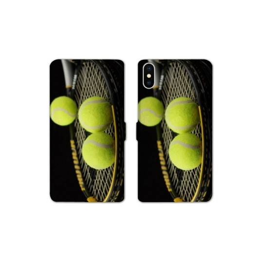 RV Housse cuir portefeuille Iphone XS Max Tennis