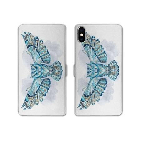 RV Housse cuir portefeuille Iphone XS Max Animaux Ethniques