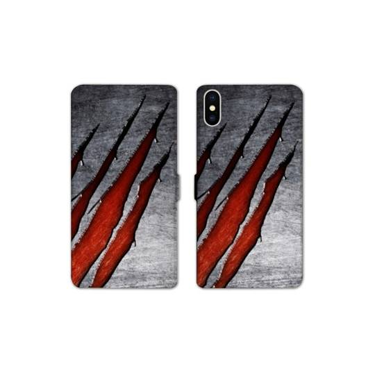 RV Housse cuir portefeuille Iphone XS Max Texture