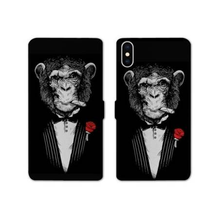 RV Housse cuir portefeuille Iphone XS Max Decale