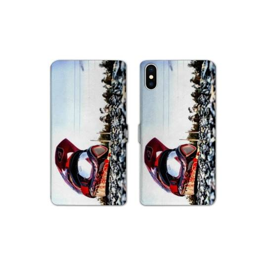 RV Housse cuir portefeuille pour iphone XS Max Moto
