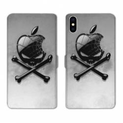 RV Housse cuir portefeuille Iphone XS Max apple vs android