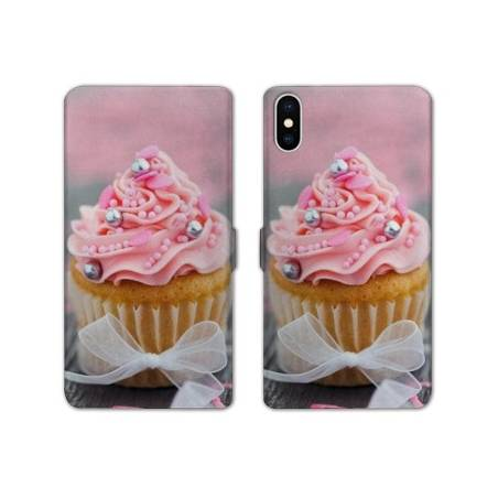 RV Housse cuir portefeuille Iphone XS Max Gourmandise