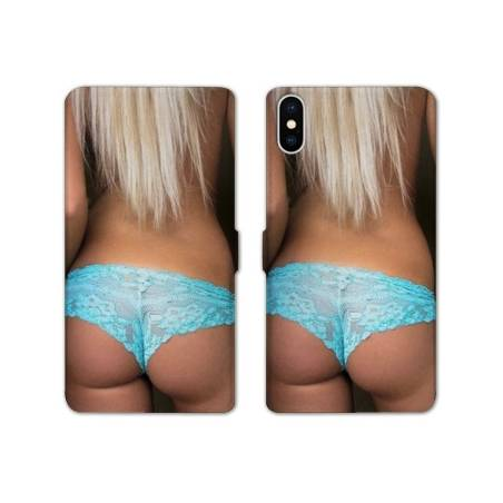 RV Housse cuir portefeuille Iphone XS Max Sexy