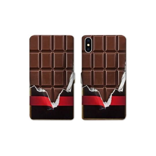 RV Housse cuir portefeuille Iphone XS Max Trompe oeil