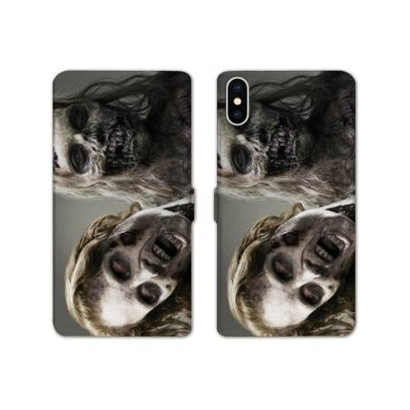 RV Housse cuir portefeuille Iphone XS Max Horreur