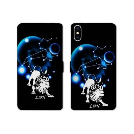 RV Housse cuir portefeuille Iphone XS Max signe zodiaque