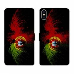 RV Housse cuir portefeuille Iphone XS Max Portugal