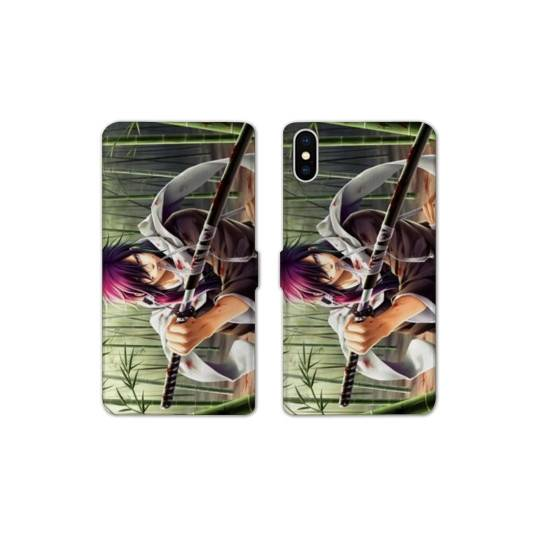 RV Housse cuir portefeuille pour iphone XS Max Manga - divers