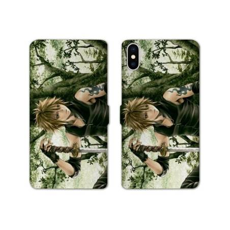 RV Housse cuir portefeuille Iphone XS Max Manga - divers