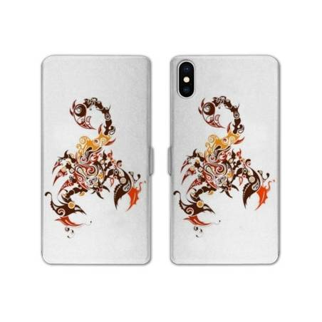 RV Housse cuir portefeuille Iphone XS Max reptiles