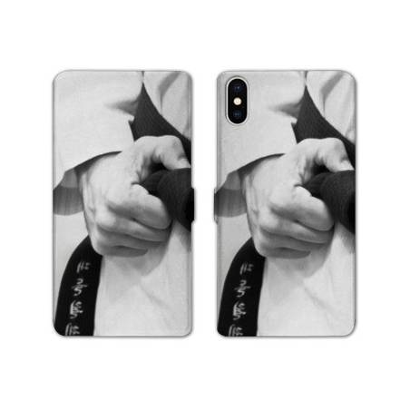 RV Housse cuir portefeuille Iphone XS Max Sport Combat