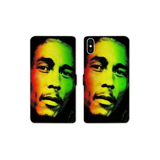 RV Housse cuir portefeuille pour iphone XS Max Bob Marley