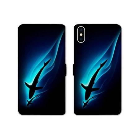 RV Housse cuir portefeuille Iphone XS Max animaux 2