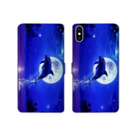 RV Housse cuir portefeuille Iphone XS Max animaux