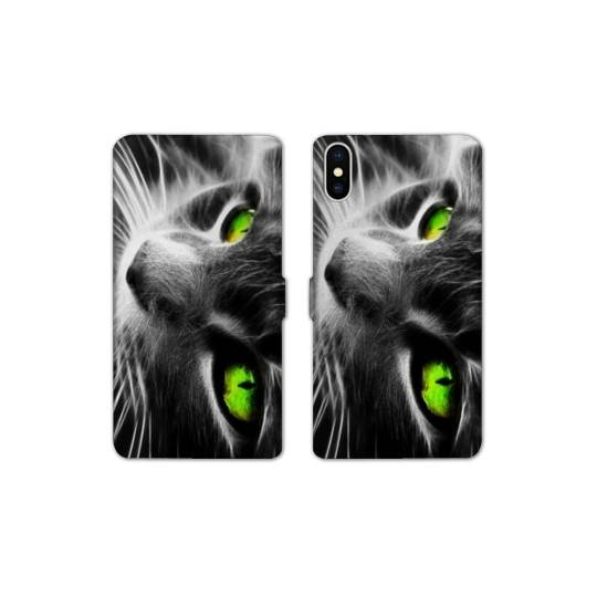 RV Housse cuir portefeuille pour iphone XS Max animaux