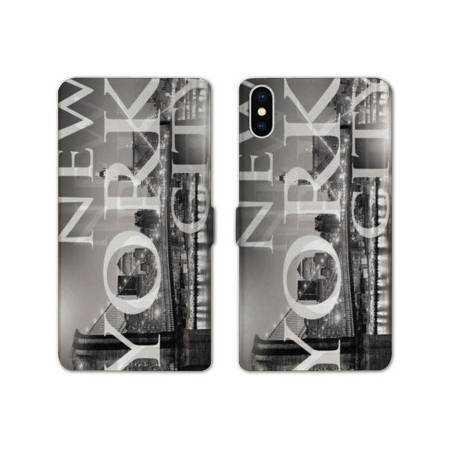 RV Housse cuir portefeuille Iphone XS Max Amerique