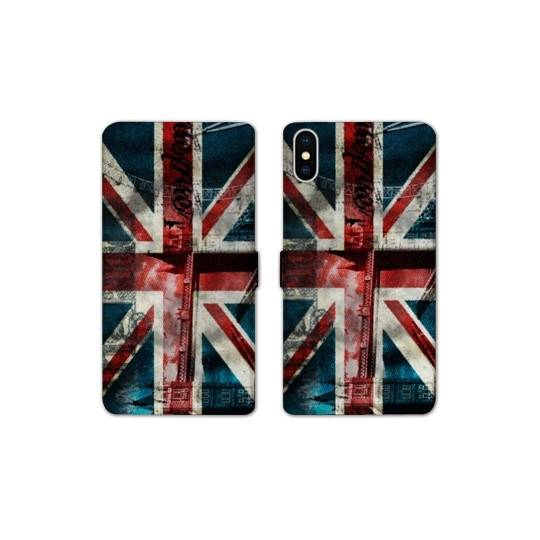 RV Housse cuir portefeuille pour iphone XS Max Angleterre