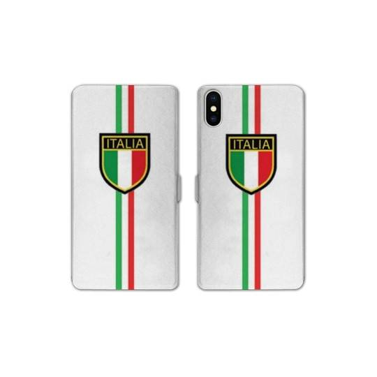 RV Housse cuir portefeuille Iphone XS Max Italie