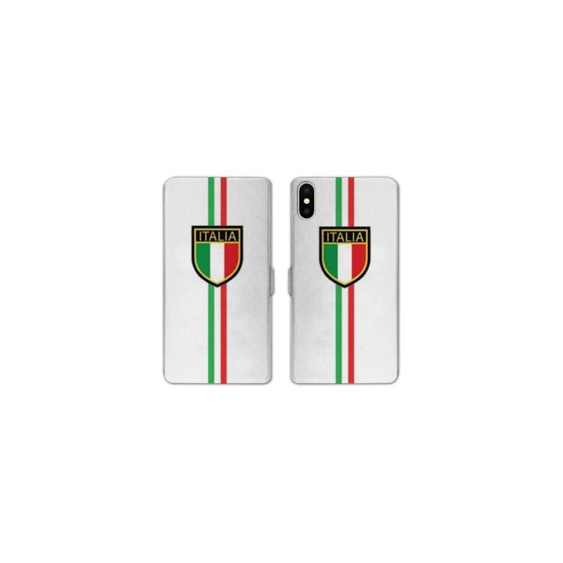RV Housse cuir portefeuille pour iphone XS Max Italie