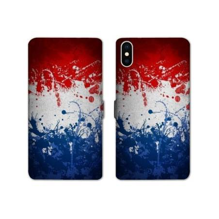 RV Housse cuir portefeuille Iphone XS Max France