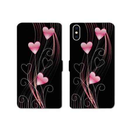 RV Housse cuir portefeuille Iphone XS Max amour