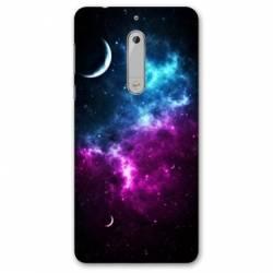 Coque Nokia 5.1 (2018) Espace Univers Galaxie