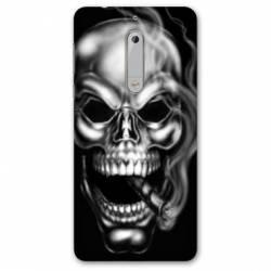Coque Nokia 5.1 (2018) tete de mort