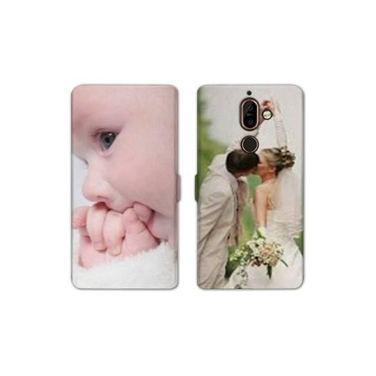 RV Housse cuir portefeuille Nokia 7 Plus personnalisée Recto / Verso