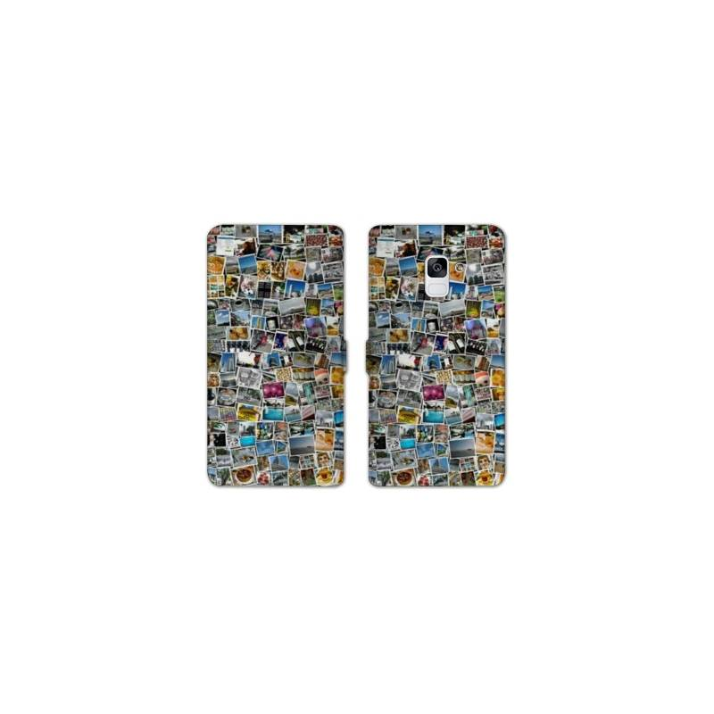 RV Housse cuir portefeuille Samsung Galaxy S9 personnalisee recto / verso