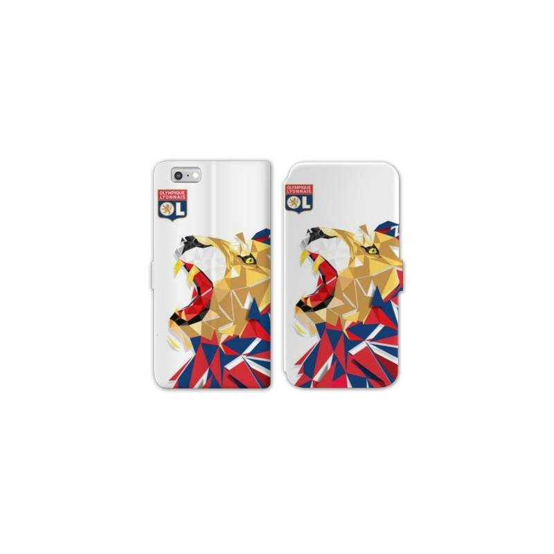 Housse cuir portefeuille Huawei Y5 (2018) License Olympique Lyonnais OL - lion color