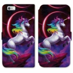 Housse cuir portefeuille Huawei Y5 (2018) Licorne