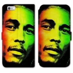 Housse cuir portefeuille Huawei Y5 (2018) Bob Marley