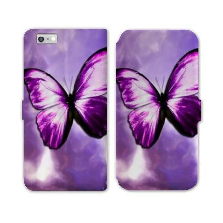 Housse cuir portefeuille Huawei Y5 (2018) papillons