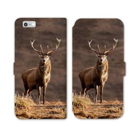 Housse cuir portefeuille Huawei Y5 (2018) chasse peche