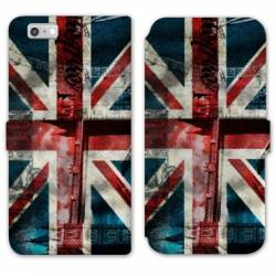 Housse cuir portefeuille Huawei Y5 (2018) Angleterre