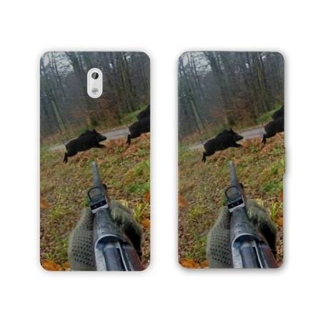 Housse cuir portefeuille Nokia 2.1 (2018) chasse peche