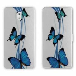 Housse cuir portefeuille Nokia 2.1 (2018) papillons