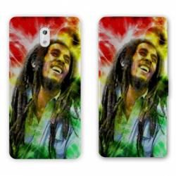 Housse cuir portefeuille Nokia 2.1 (2018) Bob Marley