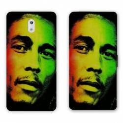 Housse cuir portefeuille Nokia 2.1 (2018) Bob Marley