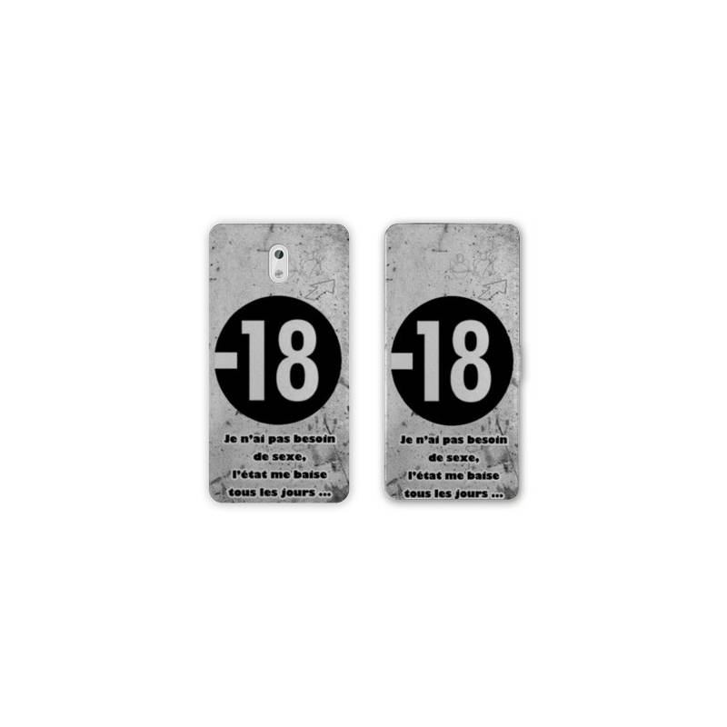Housse cuir portefeuille Nokia 2.1 (2018) Humour